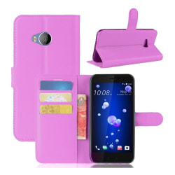 HTC U11 Life Läckert skinn fodral - Lila