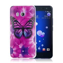 HTC U11 Skal med ett exotiskt motiv - Rosa fjäril