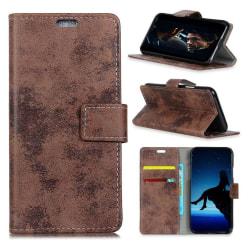 HTC U12+ mobilfodral konstläder silikon stående plånbok - Br