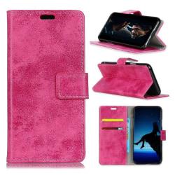 HTC U12+ mobilfodral konstläder silikon stående plånbok - Ro