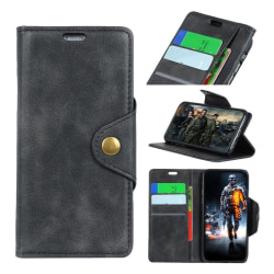 HTC U12+ mobilfodral konstläder silikon stående plånbok - Sv