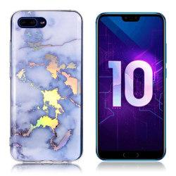 Huawei Honor 10 mobilskal silikon marmormönster - Blå