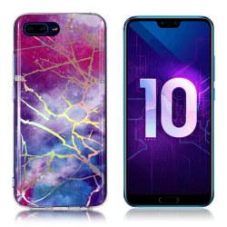 Huawei Honor 10 mobilskal silikon marmormönster - Multifärga
