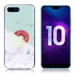 Huawei Honor 10 mobilskal silikon marmormönster - Turkos och