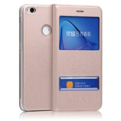 Huawei Honor 8 Lite Fodral med två fönster - Guld