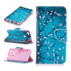 Huawei Honor 8 Lite läderfodral m. motiv - Blommande träd
