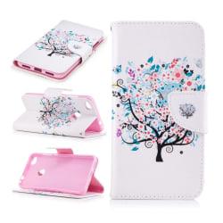 Huawei Honor 8 Lite läderfodral m. motiv - Blomträd