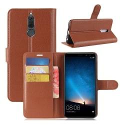 Huawei Mate 10 Lite Enfärgat skinn fodral - Brun