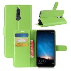 Huawei Mate 10 Lite Enfärgat skinn fodral - Grön