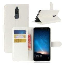 Huawei Mate 10 Lite Enfärgat skinn fodral - Vit