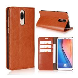 Huawei Mate 10 Lite Fodral i äkta läder - Ljus brun
