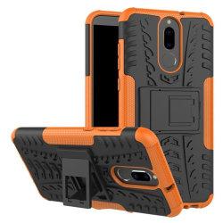 Huawei Mate 10 Lite Hybird skal med kickstand - Orange