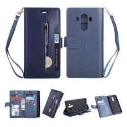 Huawei Mate 10 Pro flipfodral PU läderfodral - Dark Bl