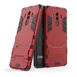 Huawei Mate 10 Pro Modernt hybird skal med kickstand - Röd