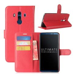 Huawei Mate 10 Pro Stilrent skinn fodral - Röd