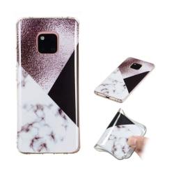 Huawei Mate 20 Pro silikonplast mobilskal med IMD marmor yta