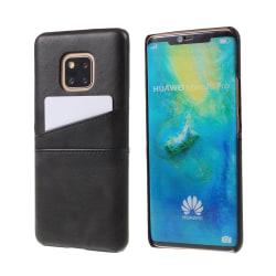 Huawei Mate 20 Pro syntetläder hårt plast mobilskal med kort