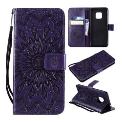 Huawei Mate 20 Pro syntetläder plånboks mobilfodral med bild
