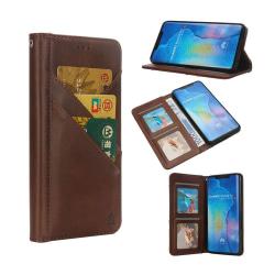 Huawei Mate 20 Pro syntetläder plånboks mobilfodral med kort