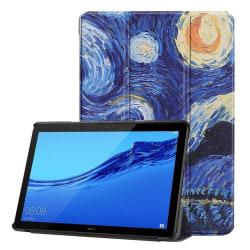 Huawei MediaPad T5 stående skyddsfodral av syntetläder med b