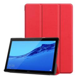 Huawei MediaPad T5 stående skyddsfodral av syntetläder – Röd