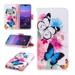 Huawei P20 Pro mobilfodral syntetläder silikon plånbok ståen