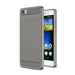 Huawei P8 Lite kolfiber silikonskal - Grå