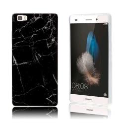 Huawei P8 Lite marmor silikonskal - Svart