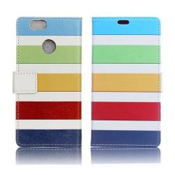 Huawei P9 Lite Mini Fodral med modernt motiv - Färg stripes