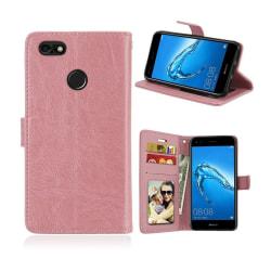 Huawei P9 Lite Mini Modernt enfärgat fodral - Ljus rosa
