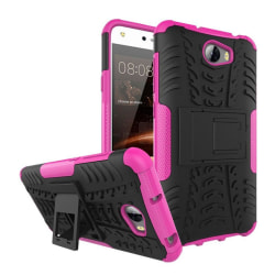 Huawei Y5 II Hybird skal med kickstand funktion - Pink