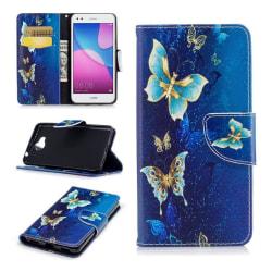 Huawei Y6 (2017) Fodral med exotiskt motiv - Vackra fjärilar