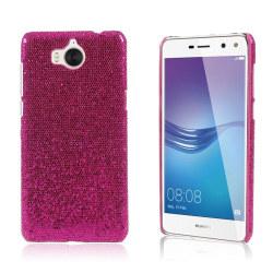 Huawei Y6 (2017) Skal med unikt motiv - Rosa glitter