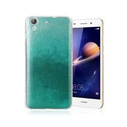 Huawei Y6 II glitter silikonskal - Cyan
