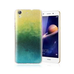 Huawei Y6 II glitter silikonskal - Gul / Grön