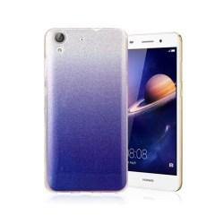 Huawei Y6 II glitter silikonskal - Mörkblå