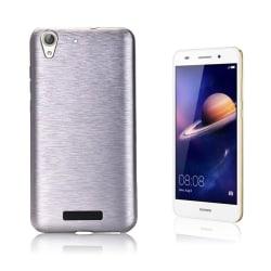 Huawei Y6 II hybridskal med borstad textur - Silver