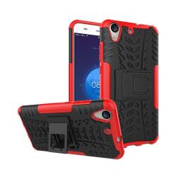 Huawei Y6 II hybridskal med kickstand - Röd