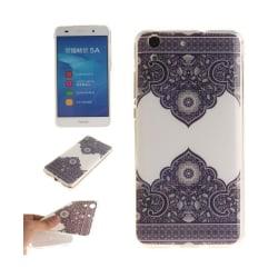 Huawei Y6 II skyddande silikonskal - Symmetriskt blommönster