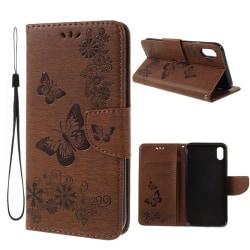 iPhone XS Max mobilfodral silikon konstläder stående plånbok