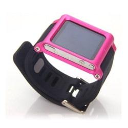 iPod Nano 6 Silikon klockband med en färgad ram - Rosa