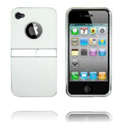 Kick-Stand Skal (Vit) iPhone 4/4S Skal