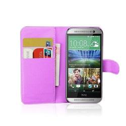 Kierkegaard (Lila) HTC One Mini 2 Flip-Fodral