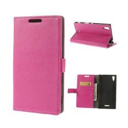 Kierkegaard (Rosa) Sony Xperia T3 Flip-Fodral