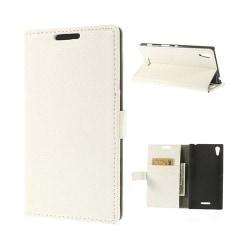 Kierkegaard (Vit) Sony Xperia T3 Flip-Fodral