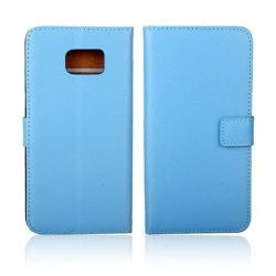 Kvist Äkta Läderfodral till Samsung Galaxy S6 Edge Plus - Bl
