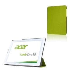 Läderfodral med Tri-fold Stativ (Grön) för Acer Iconia One 1