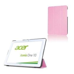 Läderfodral med Tri-fold Stativ (Rosa) för Acer Iconia One 1