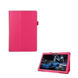 Lenovo Tab 2 A10-70 litchi läderfodral - Varm rosa