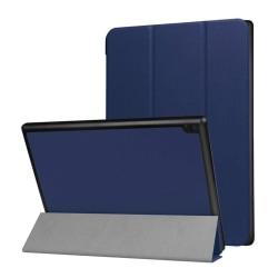 Lenovo Tab 4 10 Enfärgat läder fodral - Mörk blå